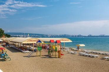 """фото пляж, Пансионат """"Приветливый берег"""", Геленджик"""