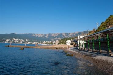 "фото пляж, Отель ""Хеппи Хотел (Happy Hotel)"", Ялта"