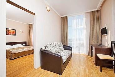 """фото Люкс 2-местный 2-комнатный, Гостиничный комплекс """"Эмеральд """", Анапа"""