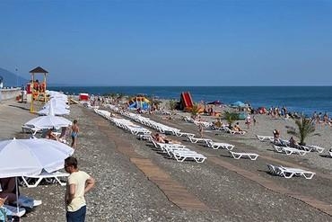 """фото Пляж, Отель Чистые Пруды, """"Бархатные сезоны"""", Сочи"""