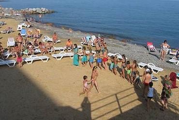 """фото пляж, Пансионат """"Морской"""", Алушта"""