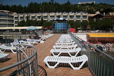 """фото Пляж, Отель """"Сказка"""", Алушта"""