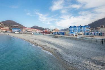 "фото пляж, Отель & СПА ""Приморье Deluxe"" (быв. ""Босфор""), Туапсе"