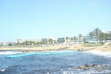 """фото Пляж, Отель """"Aliathon Holiday Village"""" 4*, Кипр"""