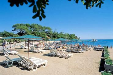 """фото Пляж, Отель """"Ozkaymak Marina Hotel 5*"""", Кемер"""