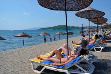 "фото Пляж, Отель ""Kustur Club Holiday Village HV-1/5"", Кушадасы"