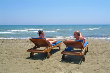 """фото Пляж, Отель """"Flamingo Beach"""" 3*, Ларнака"""