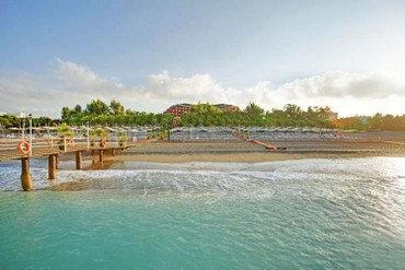 """фото пляж, Отель """"Delphin Deluxe Resort 5*"""", Аланья"""