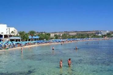 """фото Пляж, Отель """"Nelia Gardens 4*"""", Айя-Напа"""
