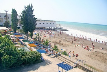 "фото Пляж, Пансионат ""Бургас"", Сочи"