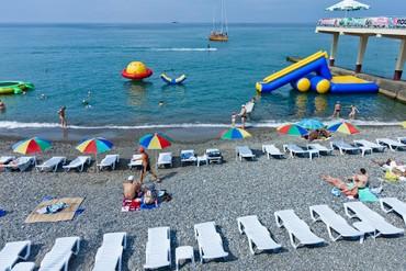 "фото пляж, Санаторий ""Коралл (Адлеркурорт)"", Сочи"