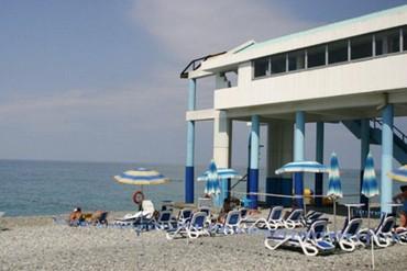 "фото Пляж, Пансионат ""Ивушка"", Сочи"