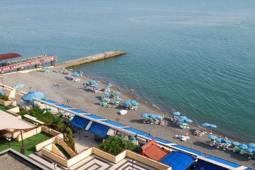 """фото Пляж, Гостиница """"Рэдиссон САС Лазурная"""", Сочи"""