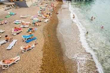 """фото Пляж, Санаторий """"СССР"""", Сочи"""