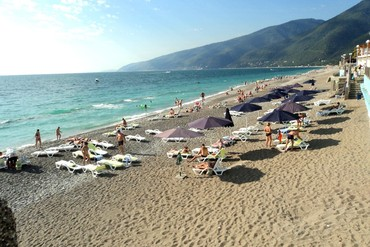 """фото Пляж, Отель """"Alex Beach Hotel"""", Абхазия"""