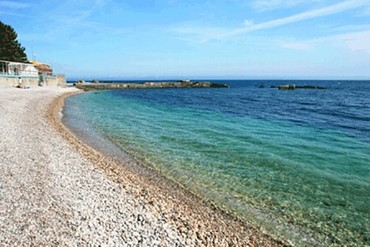 "фото Пляж, Санаторий ""Славутич"", Алушта"