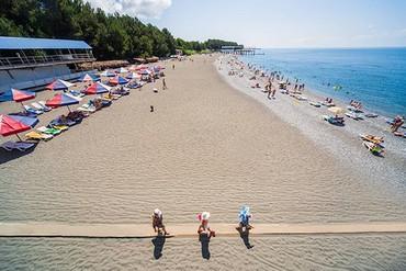 "фото Пляж, Пансионат ""Литфонд (Пицунда)"", Абхазия"