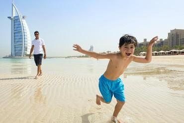 """фото Пляж, Отель """"Madinat Jumeirah Dar Al Masyaf Summerhouse 5*"""", Дубай"""