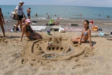 """фото Пляж, Санаторий """"Северное Сияние"""", Саки"""