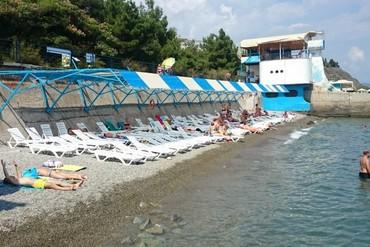 """фото Пляж, Пансионат """"Нева (Алушта)"""", Алушта"""