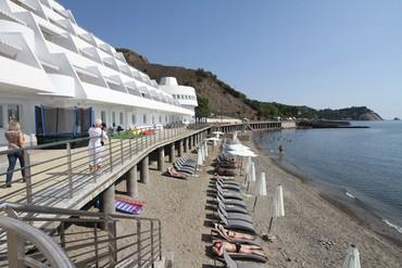 """фото Пляж, Отель """"Европа"""", Алушта"""