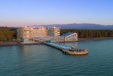 """фото Море, Отель """"Paragraph Resort & Spa Shekvetili/ Параграф"""", Грузия"""