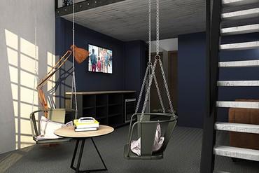 "фото Deluxe Mini Duplex+terrace SV 2-местный, Отель ""Beton Brut"", Анапа"