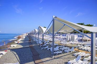 """фото Пляж, Отель """"Бридж Резорт"""", Сочи"""