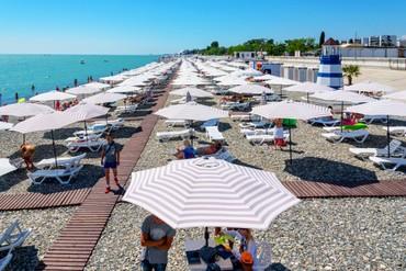 """фото Пляж 2, Отель Чистые Пруды, """"Бархатные сезоны"""", Сочи"""